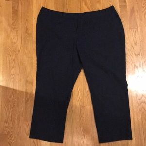 Vince Camuto Women's Plus Size Navy Trousers